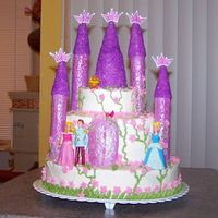 Princess Castle Cake For My Grandaughter's 3Rd Birthday Princess castle cake for my grandaughter's 3rd birthday. White cake with buttercream frosting and fondant accents.