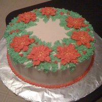 Christmas Poinsettias Still getting familiar with piping techniques. With this cake I was experiementing and trying out some new tips that I just bought for a...