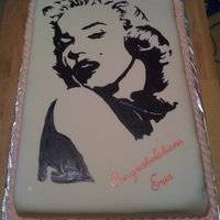 Hand Painted Marilyn Monroe I was hired to duplicate my Marilyn Monroe cake for a graduation party. I kept everything pretty much the same as the first one I did...