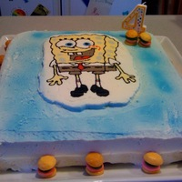 Spongebob Cake  I made this cake for my niece's birthday this weekend. I used a whipped icing, and it didn't crust over, so I couldn't...