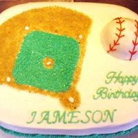 "The Baseball Diamond The first cake I've done ""on order"" - everything I've done so far was what I wanted to do, or for a class. This is the..."