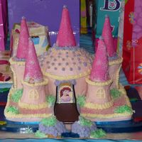 Princess 3Rd B-Day Cake  I baked and designed this and my hubby did the decorating. It tasted as good as it looks! This was our first cake and I am very proud of it...
