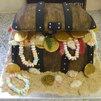 Pirate Treasure Chest Pirates Treasure chest cake filled with lots and lots of sweets :o)