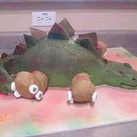 Skating Stegosaurus This cake was made for my son's 9th birthday party.