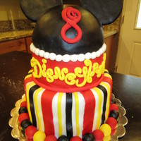 You're Going To Disneyland! Mickey Mouse birthday cake- it was a surprise to the birthday boy that he was going to Disneyland