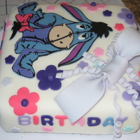 Eeyore Birthday Cake for my cousins 18th birthday, she had loved eeyore since she was a child