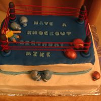 Boxing Ring   Cake ordered last minute. Did the best I could from one day to the next.