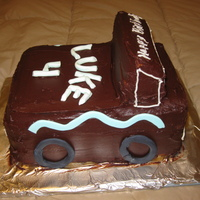 3-D Truck I made this cake for my little brothers birthday. He absolutely loves trucks! 2 cakes, 1 cut to make cab.