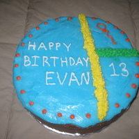 13Th Birthday Cake I made this cake for a neighbors 13th birthday. This was the first time I used quick-pour fondant (blue). I wasn't sure how to get it...