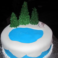Winter Scene With Seal Cake made for a January birthday.