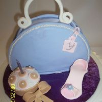 My Little Purse My first purse ever & my second fondant cake. Used a 8x3 round cake cut off at the bottom and turned side ways, with cream cheese...