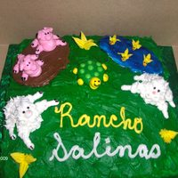 Farm Cake First time doing a farm cake, it was so much fun. Since we were going to our friends Ranch I gave it to them and they loved it. It was...