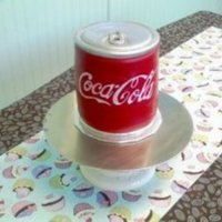 Coca Cola Can Cake   Carved fondant,