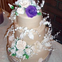 Ivory Wedding Cake Stacked fondant and gumpaste wedding cake