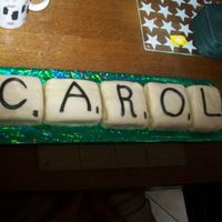 "Scrabble Cake Simple Pimple! Cut up a large chocolate sponge into equal squares to form ""tiles"" jam, cover in marzipan and make simple fondant..."