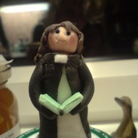 Lady Vicar Made of fondant/modelling paste mix.