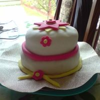Little Girls Two Tier Cake A simple cake to accompany a buffet table for a 16th party x