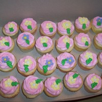 Spring Cupcakes For 90Th I posted the cake that went with these cupcakes in the birthday album. These cupcakes were for a co-worker's mom's 90th birthday...