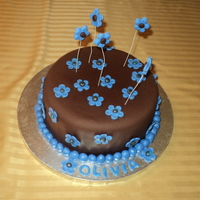 Chocolate And Blue Birthday Cake I made this cake for my beautiful niece, Olivia's 9th birthday. It is a chocolate cake with chocolate buttercream and filling and...