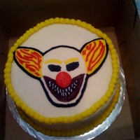Clown Cake My friend has a unhealthy obsession with creepy clowns. This is a replica of one that he carved out of wood and painted. He loved it, I was...