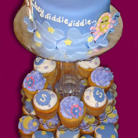 Hey Diddle Diddle Baby Shower Cupcake Tower Nursery Rhyme inspired cupcake tower