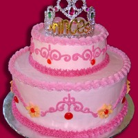 Pretty Princess Cake Before I started taking cake decorating classes I thought it'd be a good idea to make a tiered cake for a princess birthday party... I...