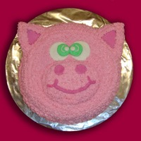 Pink Piggy Cake Here's a piggie face cake I made for my good friend who loves pigs. She requested it special for her birthday. I used the Wilton...