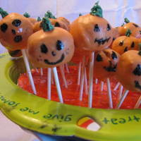 Cake Pops Red Velvet Pumpkin cake pops. This is the first time I made them. Took a while to do them but they were cute and enjoyed by all at the...