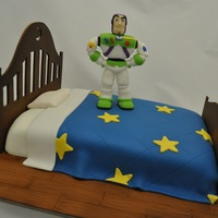 Buzz Lightyear Bed Cake Toy Story is my all time favoriate Disney/Pixar movie and Buzz is the best part of those movies for sure. I have wanted to make this cake...