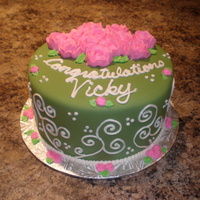 Green, Pink And White Bridal Shower