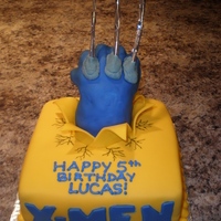 "Wolverine! I was asked to make a Wolverine cake ... so I did! The client didn't have any input other than ""make a Wolverine cake"" so..."