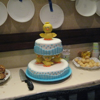 First Fondant Tiered Cake Baby Shower