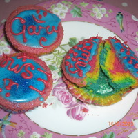 Rainbow Cupcakes! I was just experimenting with these as I've seen so many done by fellow CCers! TFL! x