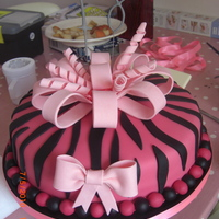 Pink Zebra 18Th! I made this cake for a girl for her 18th birthday. She likes pink! It's a chocolate Malteaser cake (Nigella's recipe) with...