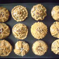 Bannana Muffings   Oh I had a lot of bananna, so I put extra in the mix and delicious the came out !!!Phily Cheese butter Cream