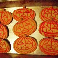 Carved Calabaza.. Halloween Cookies Sugar cookies, early in the month to get the feeling.. :D
