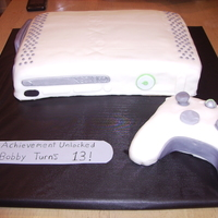Xbox 360   xbox 360 cake, carved from 9x13 controller is made from rice crispy treats.Very easy and fun to make.