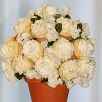 Cupcake Bouquet - Wedding My first ever bouquet ... didn't last the entire time outside in 95 degree weather but made it for pictures.