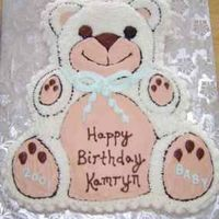 "Baby Bear All in buttercream...to match my niece's favorite stuffed animal, ""Bear."""