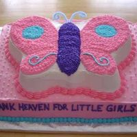 Butterfly Baby Shower All in buttercream (except for the pipe cleaner antennae); butterfly matches one from the baby's bedding