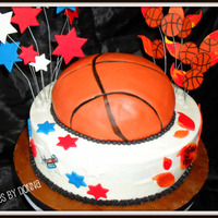 Harlem Ambassadors This is a cake made for basketball fundraiser with the Harlem Ambassadors. Chocolate wasc cake with cream cheese filling and buttercream...