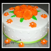 Orange Blossom Cake Buttercream frosting with royal iced flowers. This is one of the first cakes I made and one that started the obsession! lol Seems like a...