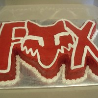 Fox Motorcross   This is my first carved cake.