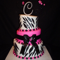 Pink & Black Zebra Cake Inspired by a Pink cake Box creation (I love them!) this is all cookies-n-cream cake for a little girl's birthday.