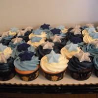 Star Graduation Cupcakes Cupcakes for graduation in school colors with starts