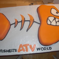 Fisher Atv World Cake This was a bday cake for someone who wanted the logo in cake. red velvet cake.