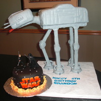 At-At Star Wars AT Walker Star Wars cake. This was for my son's birthday. This is the only thing he kept saying he wanted. Someone already had the...