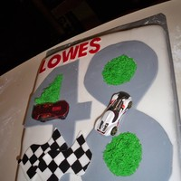 Lowes Cake this cake is covered in fondant and flags are hand painted