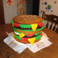 Scooby Doo Sky Burger Cake Double cheeseburger, i did this for an order for a manager at Burger King.