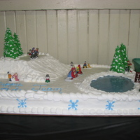 Winter Wonderland This cake was for my sister's 40th surprise party.